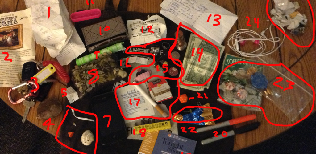 what's in my purse (aka: SERIOUSLY, what's in my friggin' purse?!)